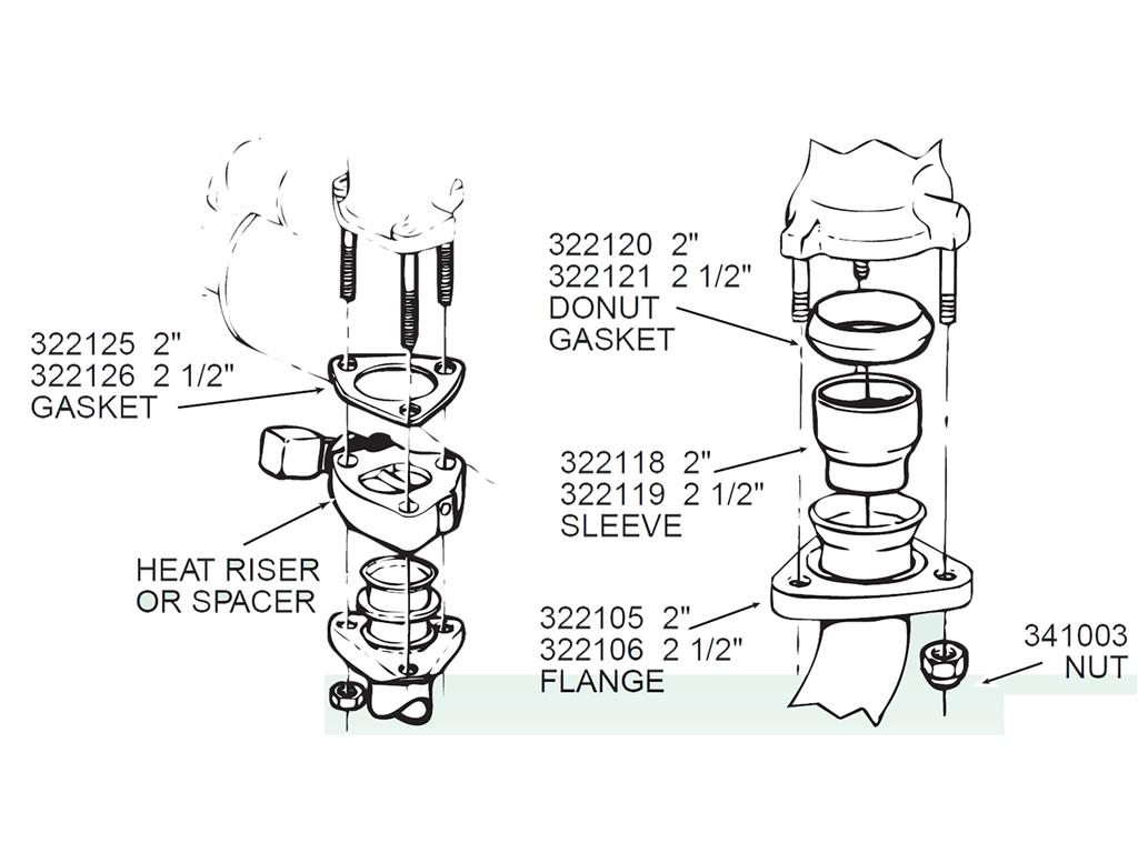 62 74 Exhaust Pipe Flange
