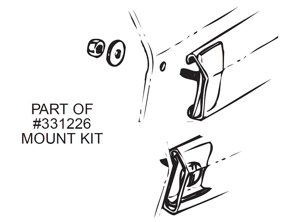 56 61 Side Moulding Mounting Kit