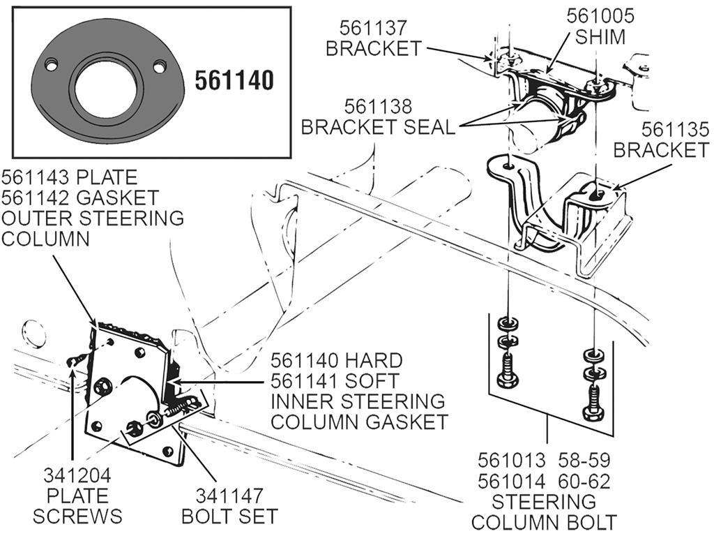 56 62 Steering Column Gasket