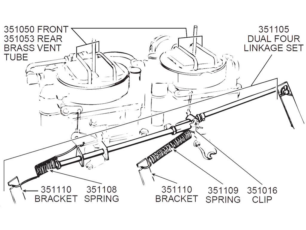 56 61 Carburetor Linkage Set