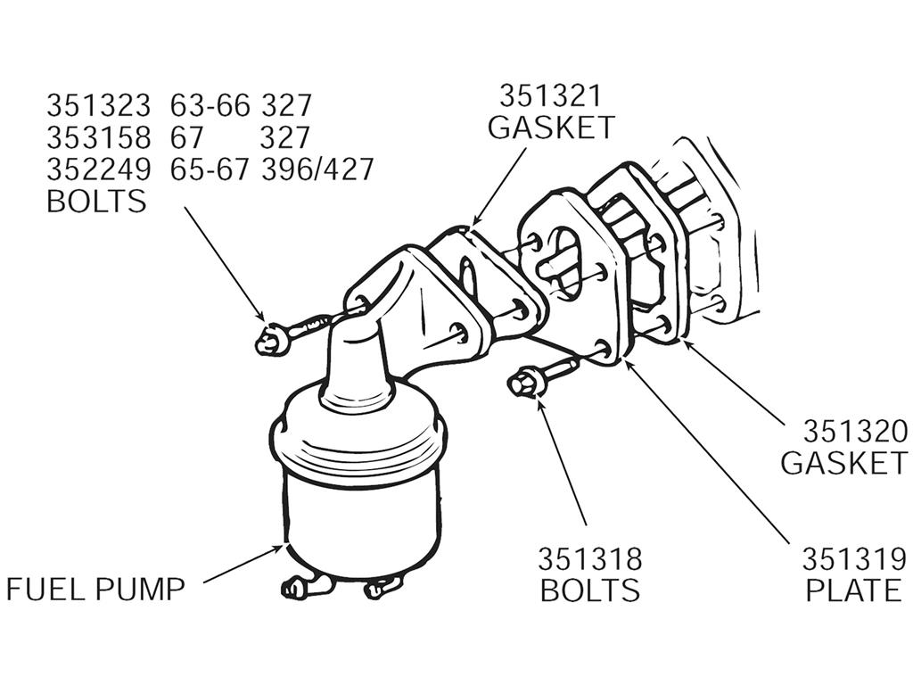57 82 Fuel Pump Mount Plate Bolt