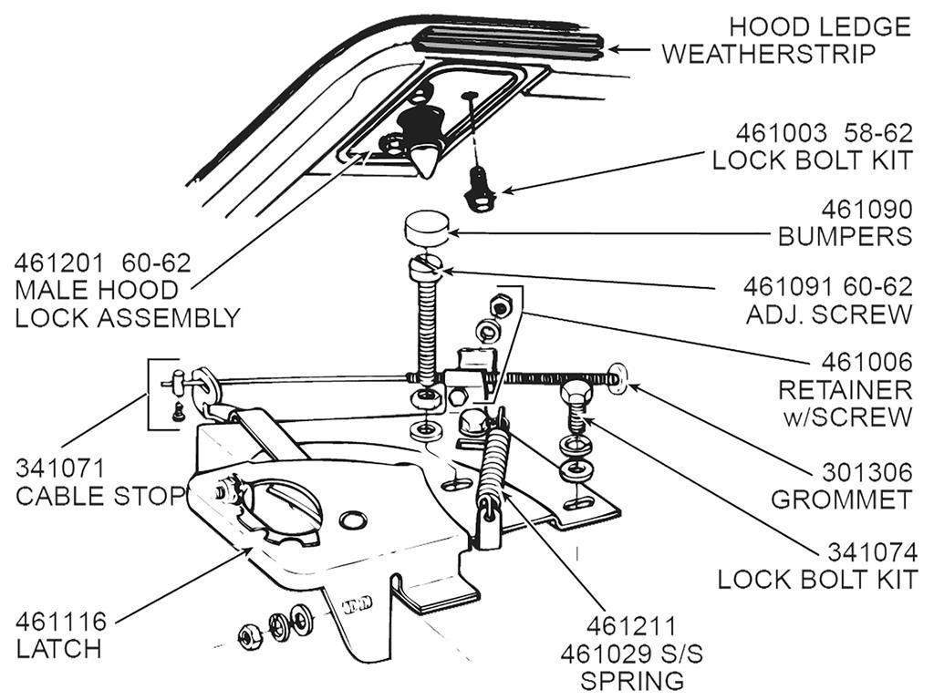 53 76 Hood Bumper