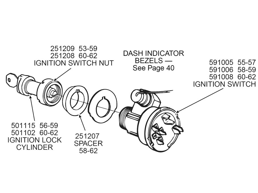 60 64 Ignition Lock Cylinder