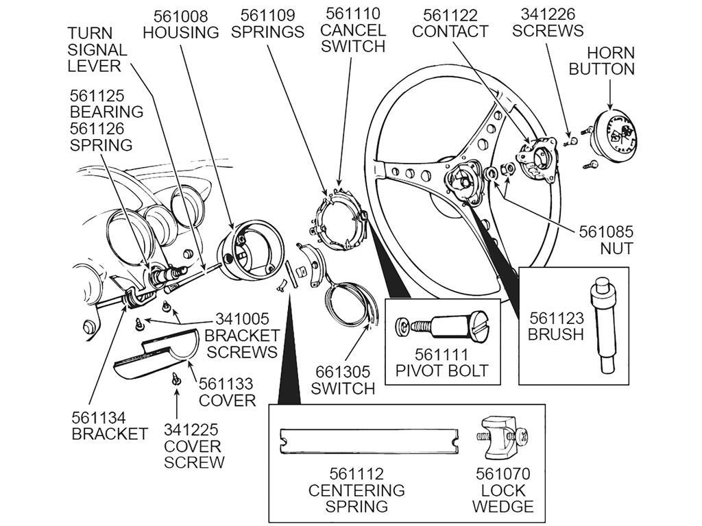 53 62 Steering Column Turn Signal Housing