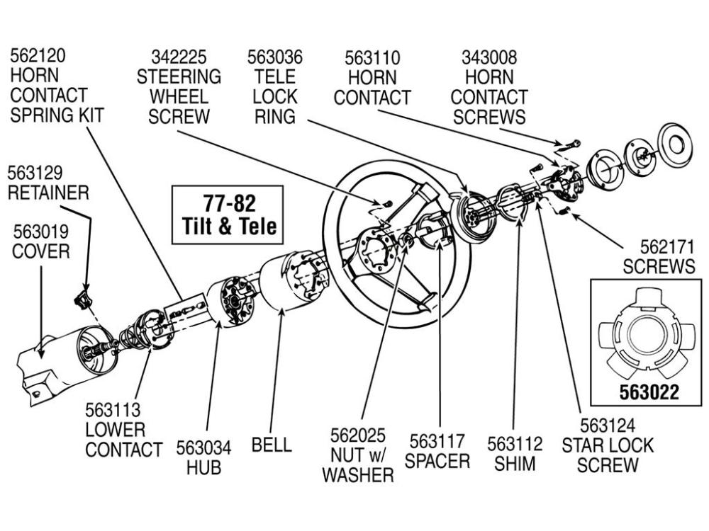 medium resolution of 70 89 horn contact carrier retainer with tilt and telescopic steering wheel horn parts diagram for a 1986 corvette