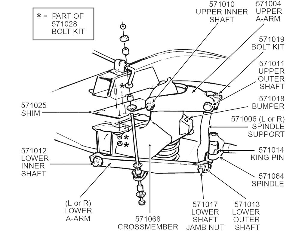 56 62 Front A Arm Control Arm