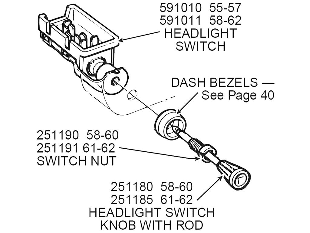58 63 Headlight Switch