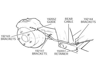 63-82 Parking / Emergency Brake / Interlock Cable Retainer