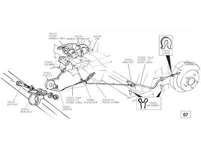 67-75 Front Parking / Emergency Brake Cable Grommet