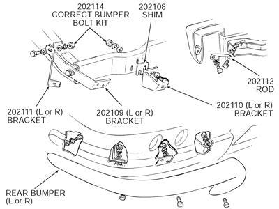 63-67 Rear Bumper Bolt Kit w/Correct Headmark Bolts And