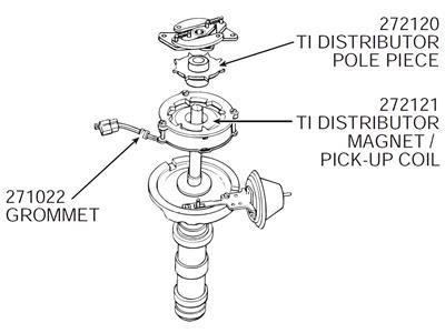 64-71 Transistor Ignition Distributor Pick Up Coil