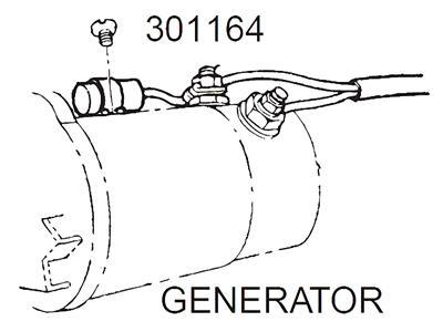 56-62 Generator Radio Capacitor With Bracket New