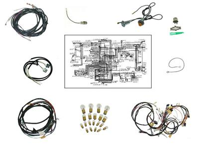 57 Deluxe Fuel Injection Manual Transmission Wire Harness