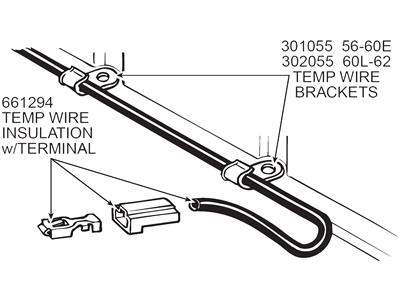 57-78 Temperature Sender Wire Insulation With Terminal