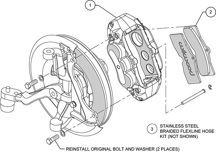 Wilwood Brakes 1965-1982 Chevrolet Corvette D8-6 Front