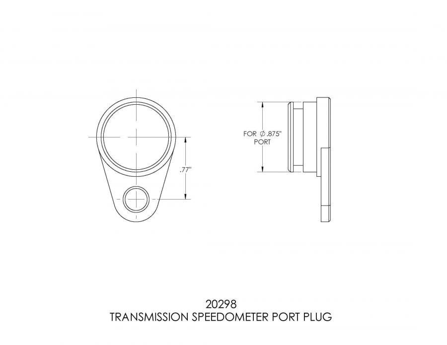B&M Transmission Speedometer Port Plug 20298