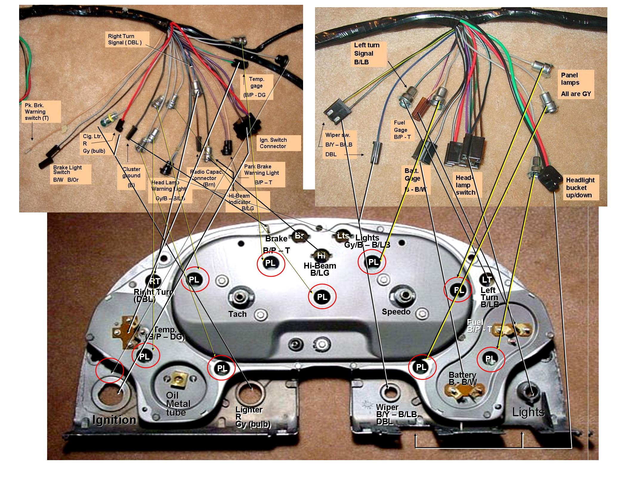 1965 mustang headlight wiring diagram probability determining probabilities using tree diagrams 1964 corvette cluster corvetteforum chevrolet forum discussion1964 5