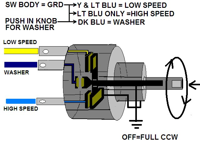need help with 67 wiper switch/motor wiring  corvetteforum