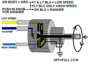Need help with 67 wiper switchmotor wiring