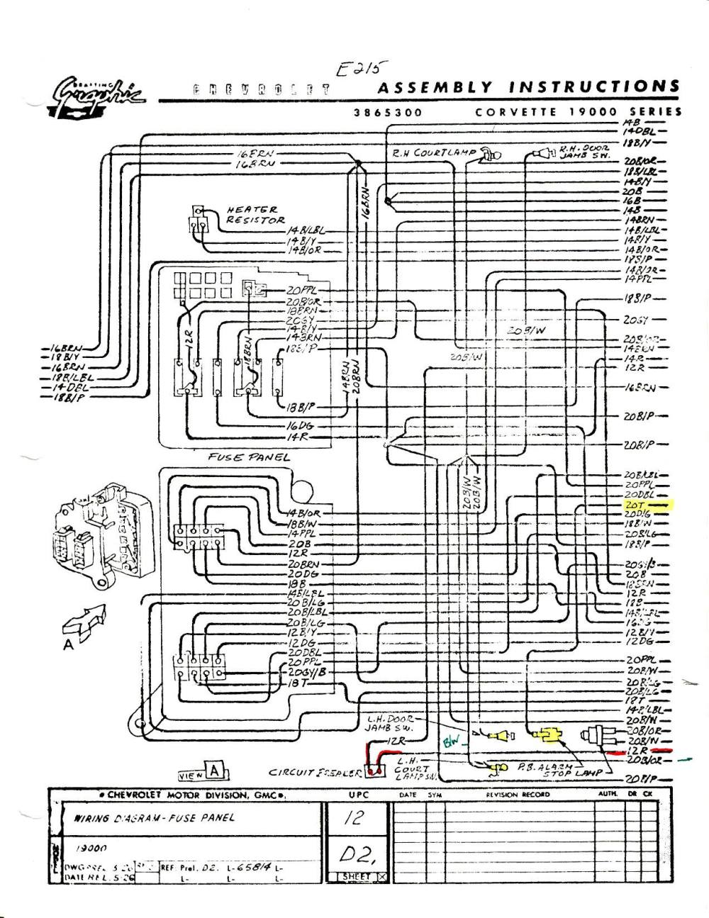 medium resolution of 1960 chevy ignition switch wiring diagram wiring library 1968 corvette dash wiring diagram c4 corvette dash