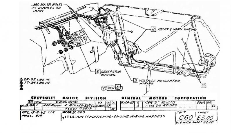 this is a wiring diagram of 1962 chevrolet corvette it shows the