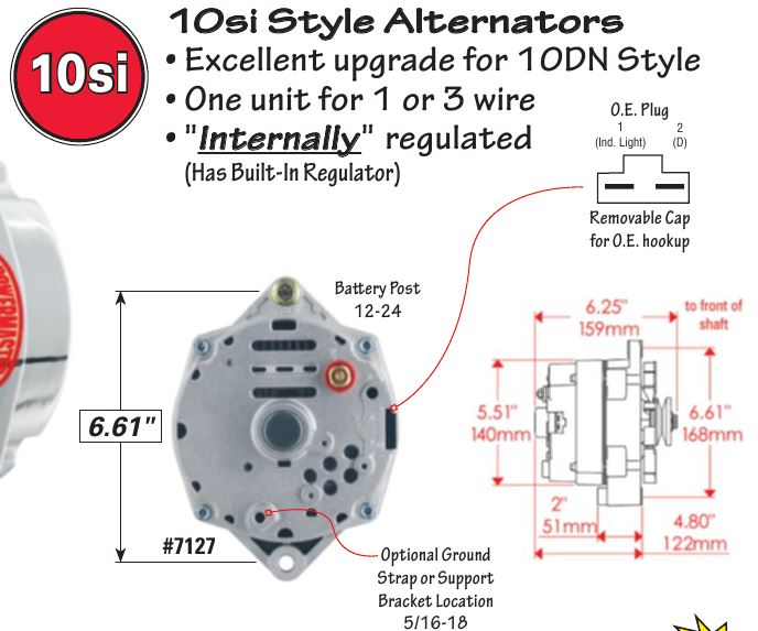 10si alternator wiring diagram campervan so once an with internal regulator is installed the c2 instructions needed for 65 327alternator