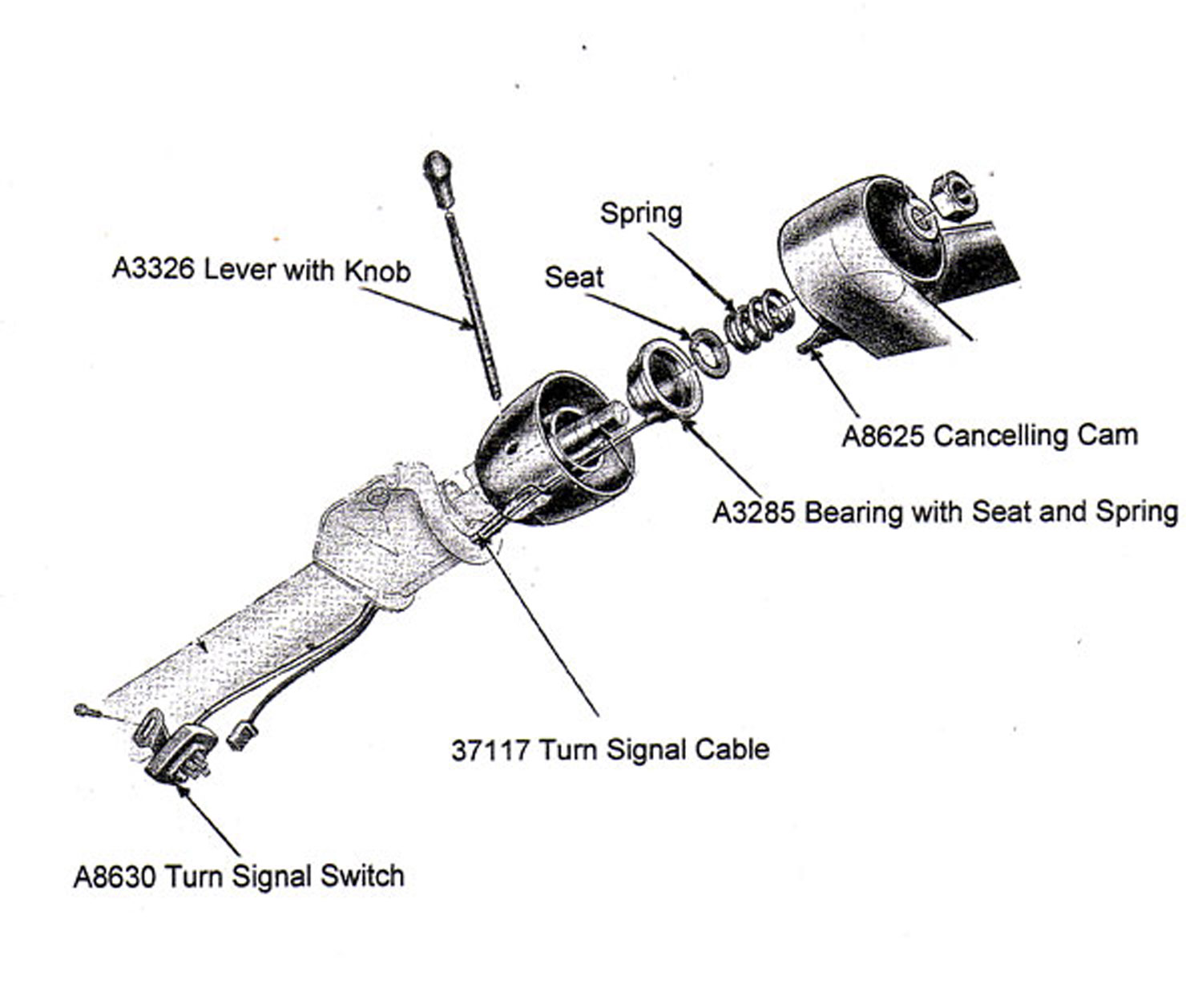 [WRG-8908] 1967 Chevy Pickup Steering Column Diagram