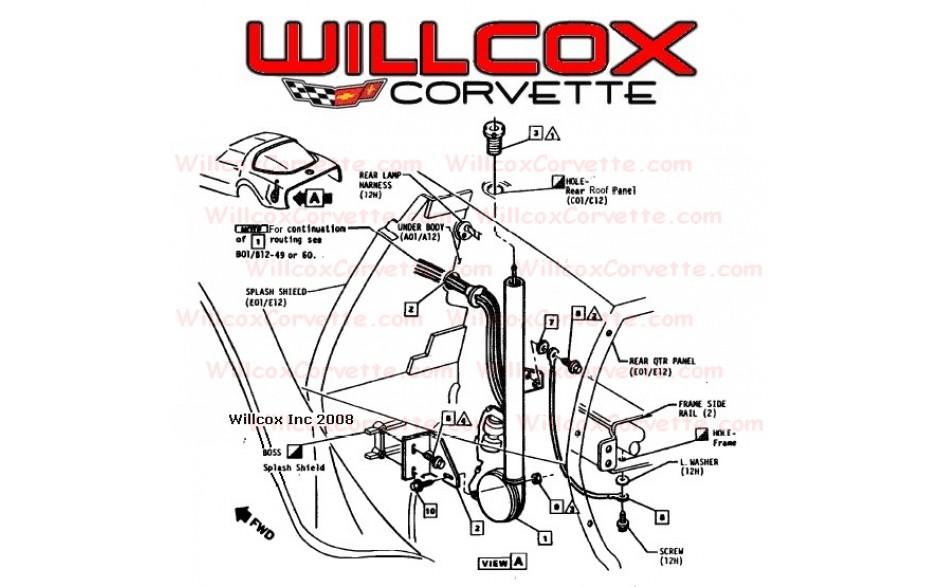c4 corvette power antenna wiring diagram