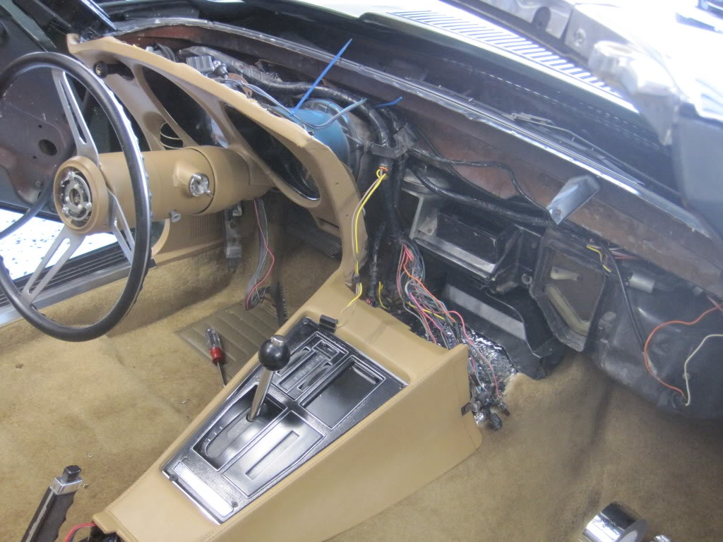 1976 corvette dash wiring diagram tempstar furnace parts great installation of pics console harness corvetteforum chevrolet rh com c3 electrical