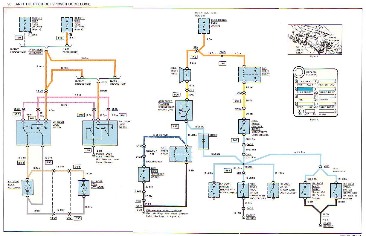 hight resolution of c3 1978 wiring diagram corvetteforum chevrolet corvette forumname anti theft power door lock jpg views 4443