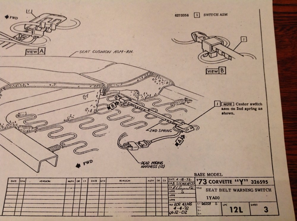 medium resolution of circuit diagram for typical seat belt warning light schematic wiring 1968 chevy seat belt diagram wiring