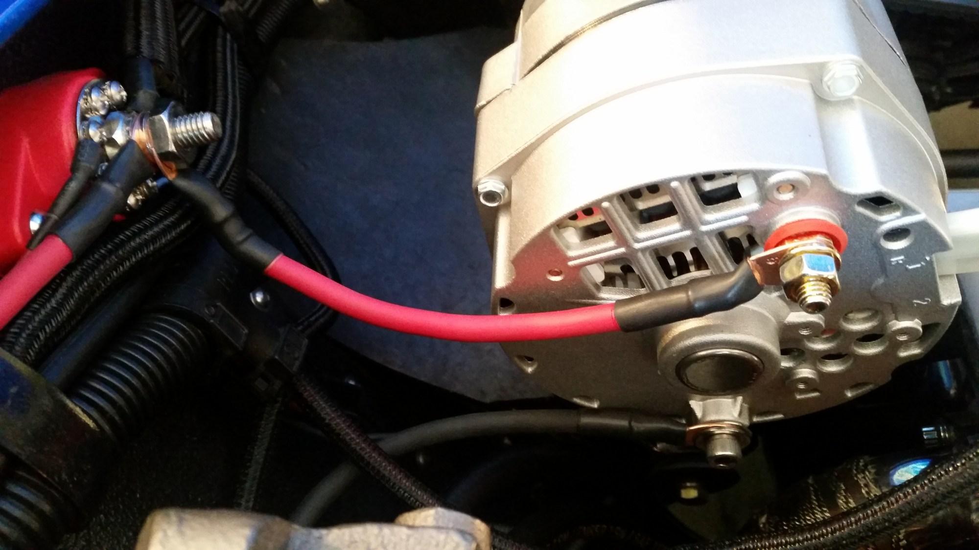 hight resolution of alternator extremely hot corvetteforum chevrolet corvette delco alternator wiring in mechanical matters v forum