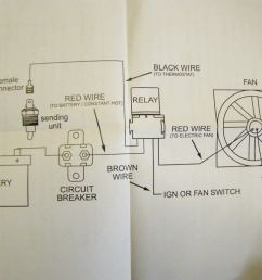 electric fan temperature switch wiring diagram [ 1024 x 768 Pixel ]