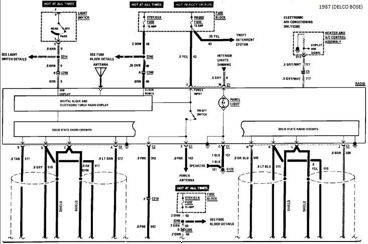 87 corvette radio wiring diagram