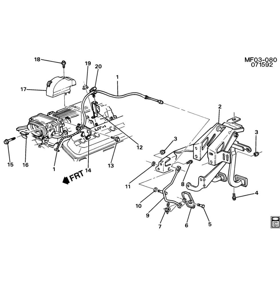 WTB: LT1 / 700R4 Throttle Bracket GM PN 10226089