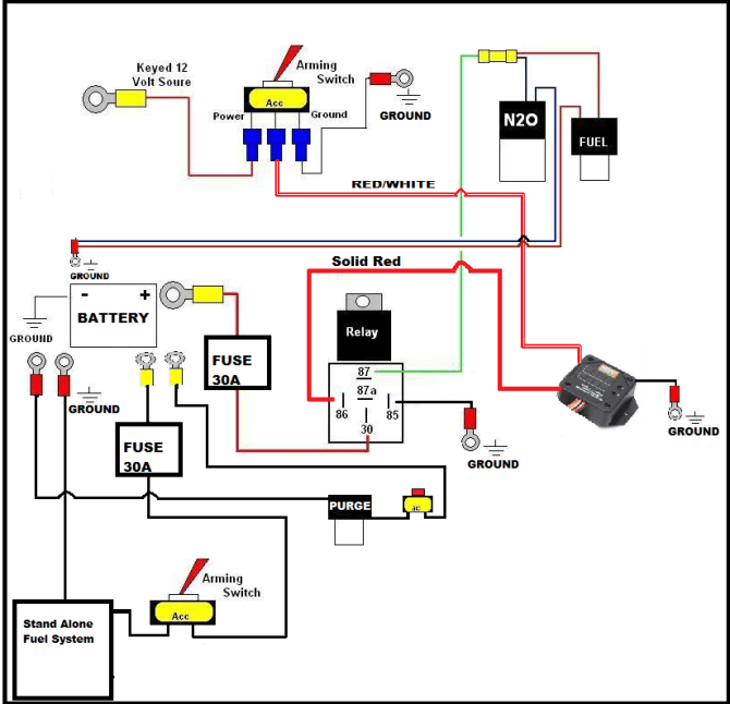 nitrous wiring diagram  schematic wiring diagram cycle