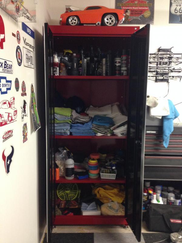 Showing off My detailing cabinet  CorvetteForum