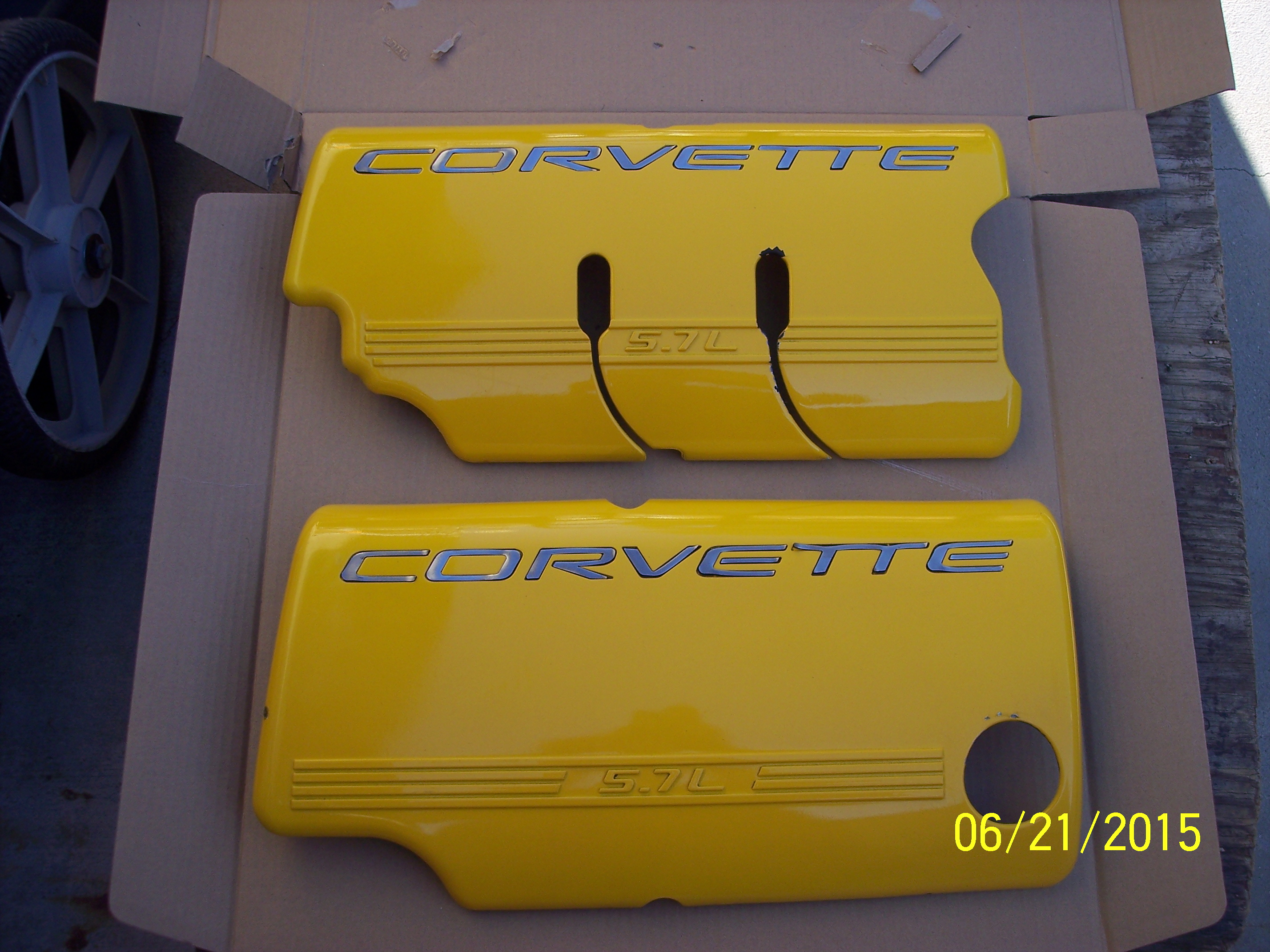 For Sale 19971998 Mellinnium Yellow Fuel Rail Covers