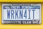 Corvette Vanity License Plates from Corvettes at Carlisle