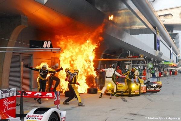 Caption contest WEC Corvette Pit Ablaze in Shanghai