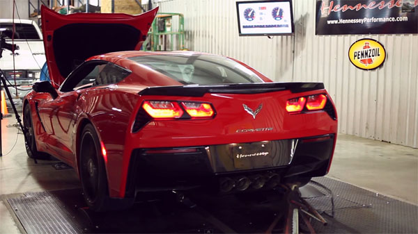 Hennessey HPE700 Twin-Turbo C7 Corvette Stingray on the Dyno