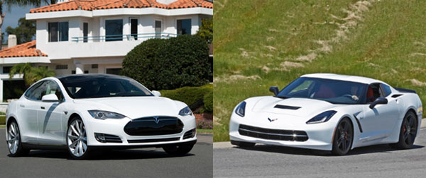 Tesla Model S vs C7 Corvette Stingray