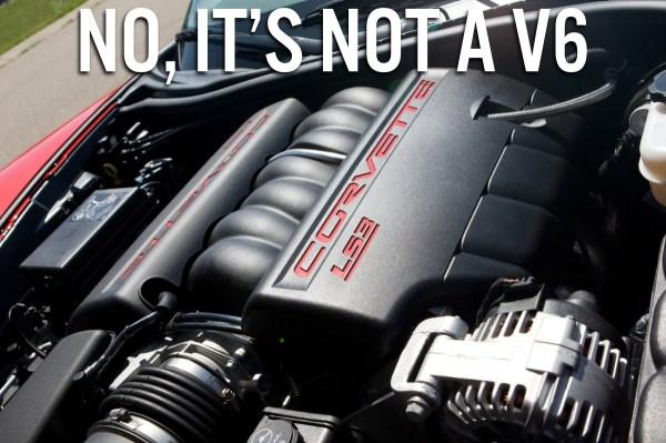 2013 Chevrolet Corvette Grand Sport Engine Not a V6 Meme