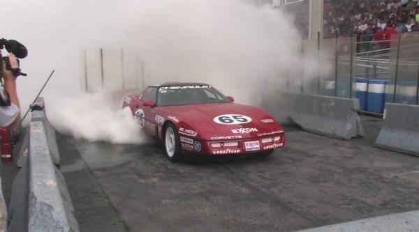 C4 Corvette Burnout