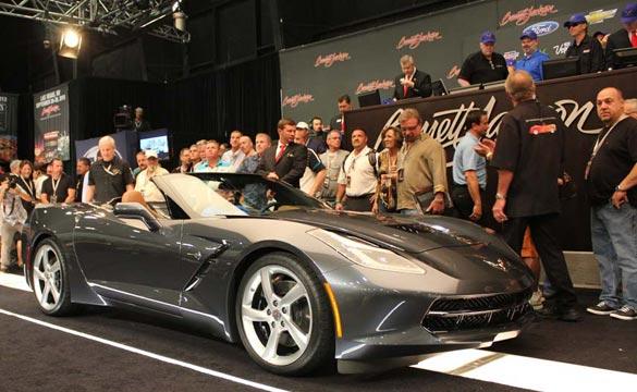 First Retail Production 2014 Corvette Convertible on block at Barrett Jackson (Photo courtesty of Barrett-Jackson)