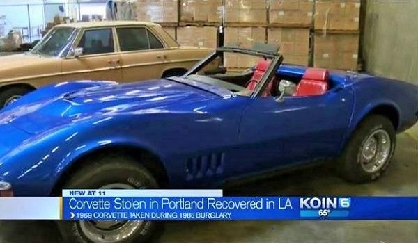 Stolen Corvette text