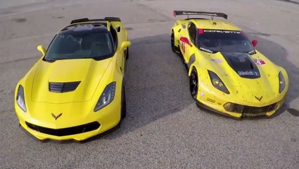 Corvette Race Cars text