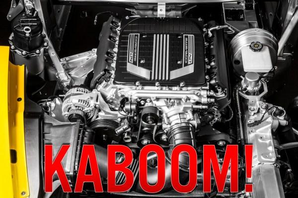 2015-Chevrolet-Corvette-Z06-Engine Blown Kaboom Engine Bay