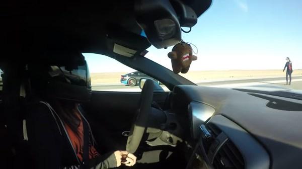 Girl Driving C6 Z06 Kills Viper