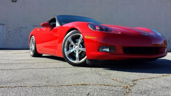 victory red corvette
